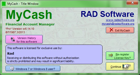 Click to view MyCash screenshots