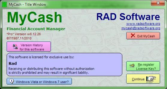 MyCash screenshot